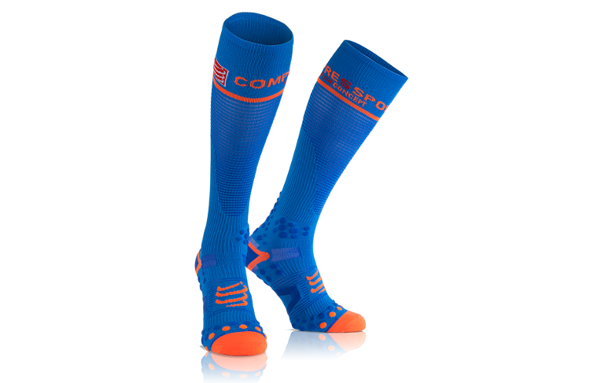 COMPRESSPORT FULL SOCKS V2.1 niebieskie