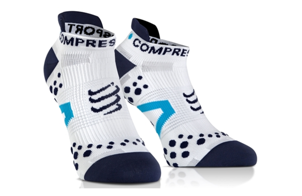 COMPRESSPORT PRORACING SOCKS V2.1 RUN LOW białe