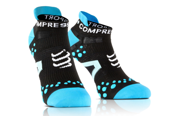 COMPRESSPORT PRORACING SOCKS V2.1 RUN LOW niebieskie