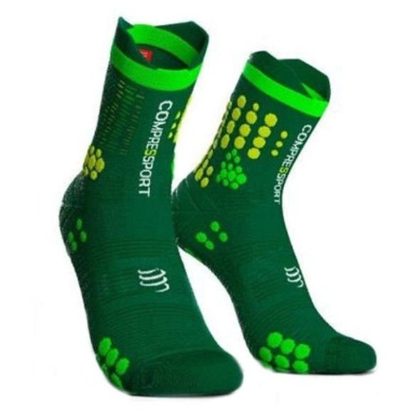 COMPRESSPORT PRORACING SOCKS V3.0 TRAIL zielone