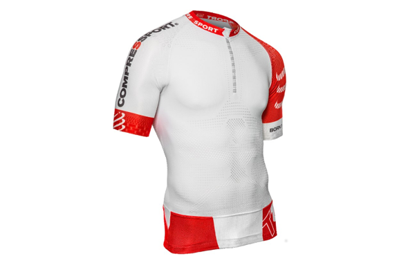 COMPRESSPORT TRAIL RUNNING SHIRT V2 biała