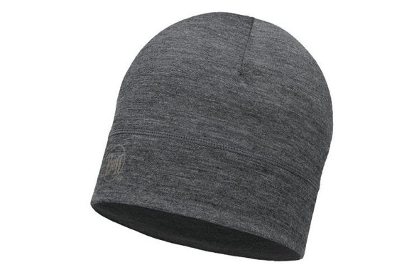 CZAPKA BUFF GREY NEW z wełny Merino lightweight 125