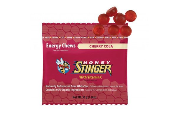 HONEY STINGER ENERGY CHEWS wisnia-cola z kofeiną