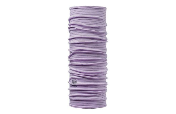 WOOL BUFF DYED STRIPES LAVENDER MIST