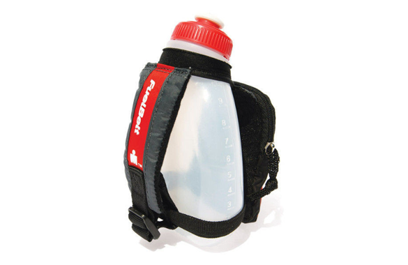 Bidon z rączką FuelBelt SPRINT PALM HOLDER IRONMAN czerwony