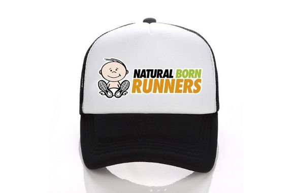 NATURAL BORN RUNNERS TRUCKER CAP czarna