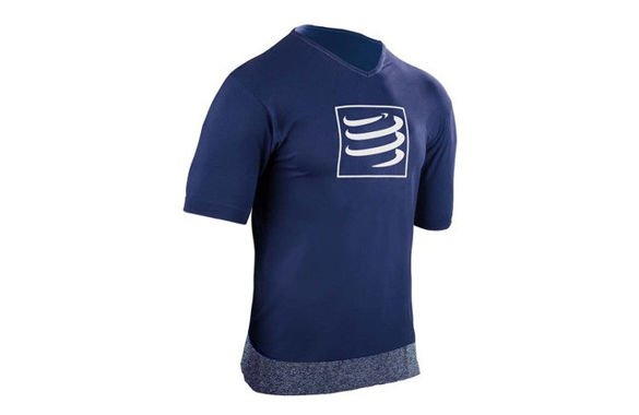 COMPRESSPORT TRAINING SHIRT niebieska