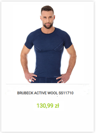 Brubeck Active Wool SS