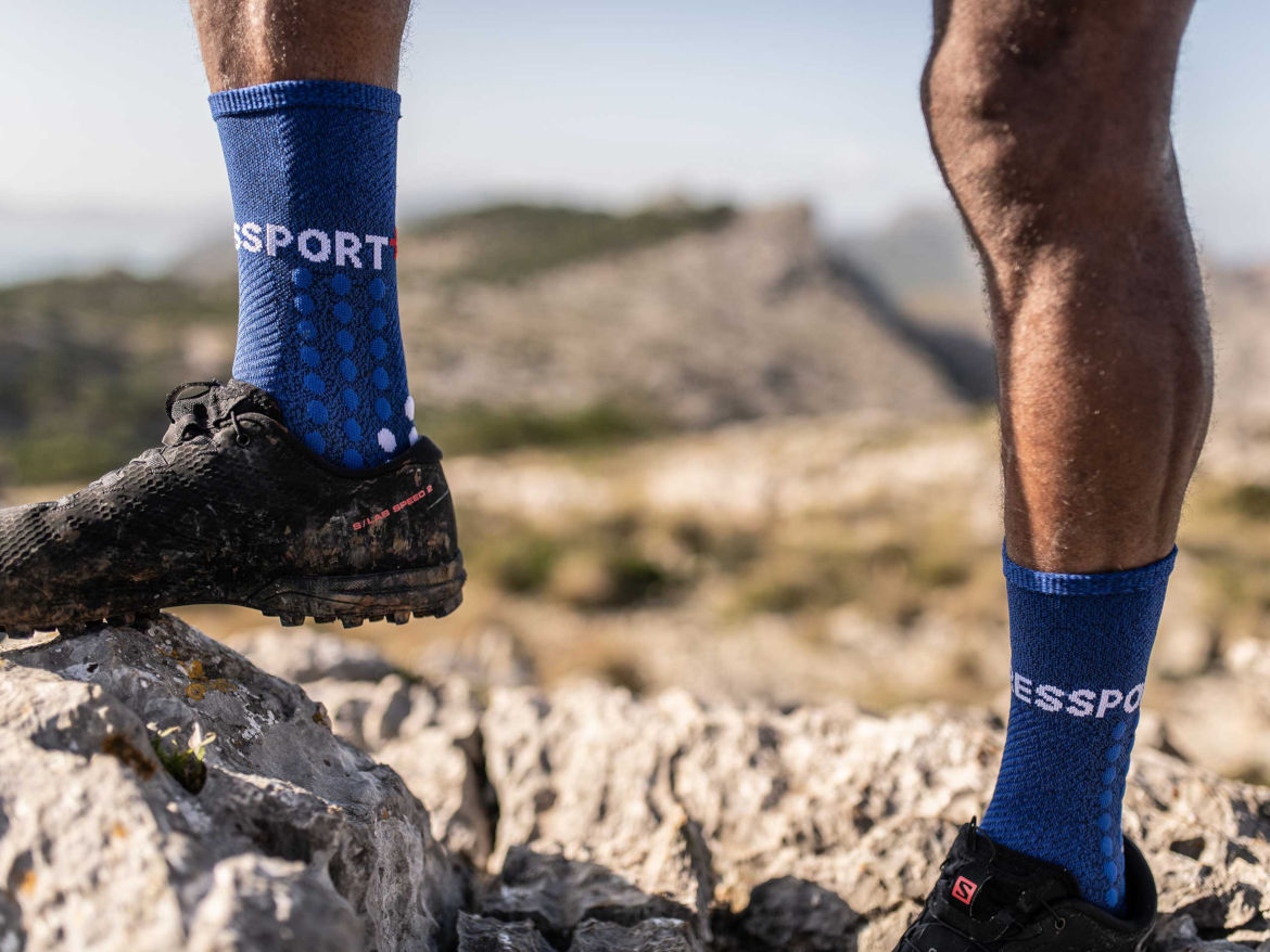 Skarpety Compressport Ultra Trail Socks niebieskie