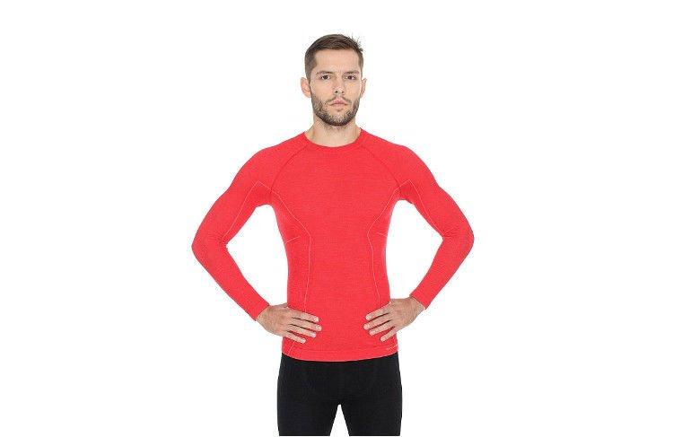 661e499de3abec Brubeck Active Wool LS12820 długa czerwona - Sklep Natural Born Runners