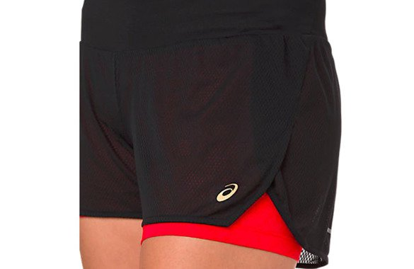 ASICS COOL 2-N-1 SHORT MP PERFORMANCE BLACK SS19 damskie