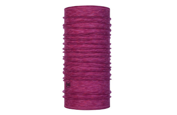 CHUSTA MERINO WOOL BUFF RASPBERRY MULTI STRIPES lightweight 125