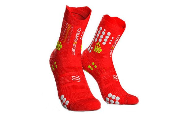 COMPRESSPORT PRO RACING SOCKS V3.0 TRAIL czerwone