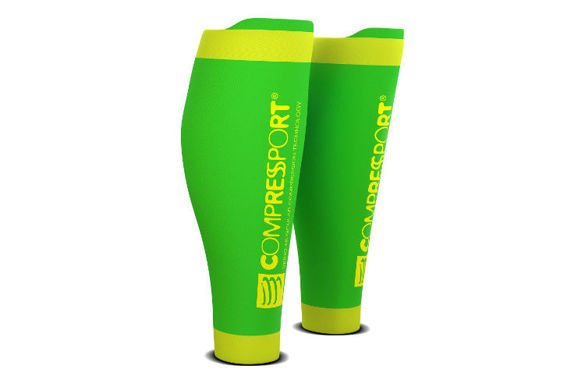COMPRESSPORT R2 RACE&RECOVERY FLUO zielone
