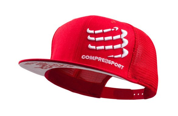 COMPRESSPORT TRUCKER CAP czerwona