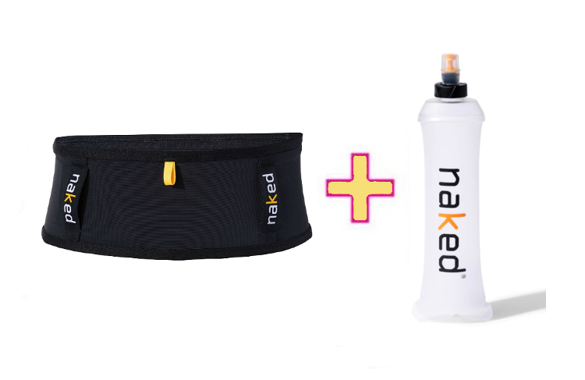 ZESTAW PAS DO BIEGANIA NAKED RUNNING BAND + SOFT FLASK 0,35L lub 0,5L
